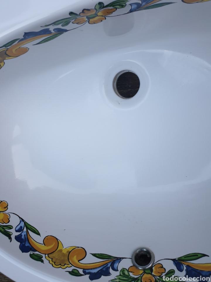 Segunda Mano: Lavabo porcelana Valadares decorado - Foto 3 - 218145417