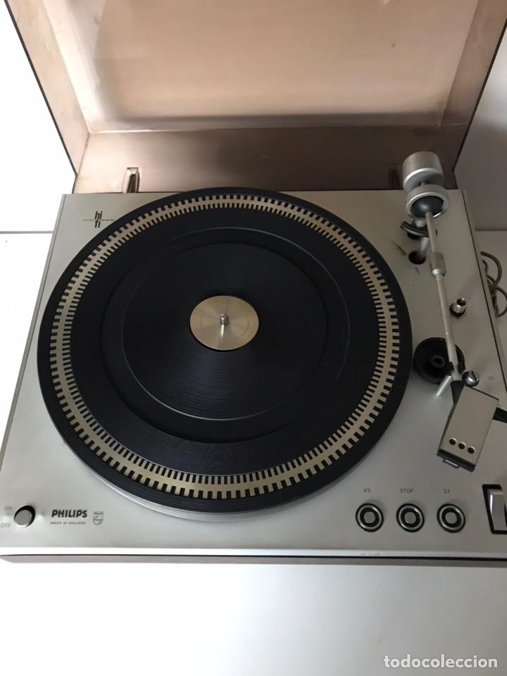 Segunda Mano: Rare Philips GA 212 Turntable-Audiophile Turntable-Excellent Condition + amplifier - Foto 2 - 218149190