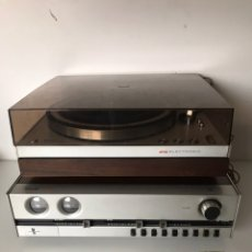 Segunda Mano: RARE PHILIPS GA 212 TURNTABLE-AUDIOPHILE TURNTABLE-EXCELLENT CONDITION + AMPLIFIER. Lote 218149190