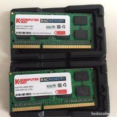 Segunda Mano: 4 GB RAM PC3-14900 DDR3 204 PIN (2 MÓDULOS). Lote 218216851