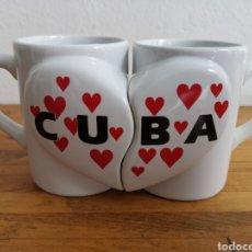 Segunda Mano: BONITAS TAZAS DE TÉ DE CUBA, PARA ENAMORADOS.. Lote 218457030