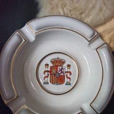 Segunda Mano: BONITO Y GRAN CENICERO DE PORCELANA FG MADE IN SPAIN CON EL SÍMBOLO DE ESPAÑA. Lote 218688358