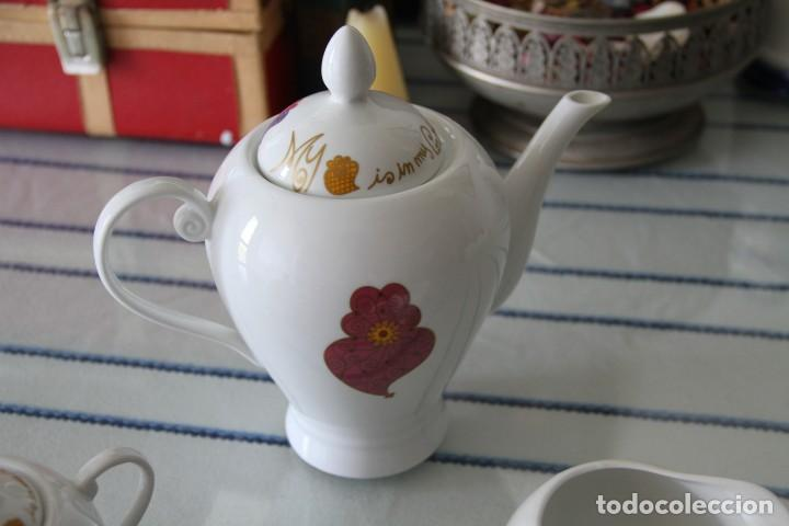 Segunda Mano: Juego tres piezas vajilla juego de té, tetera lechera y azucarero A Loja do Gato Preto - Foto 3 - 218786433