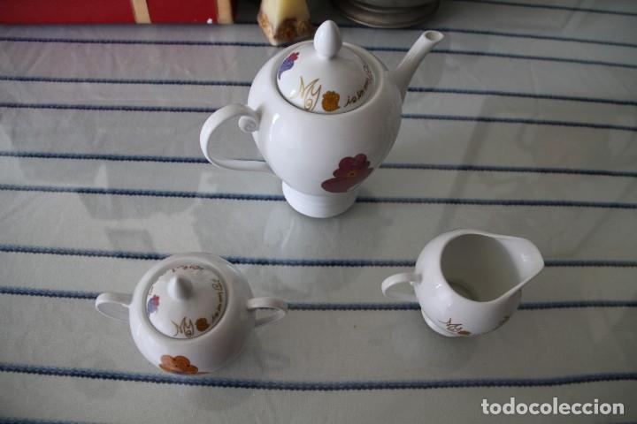 Segunda Mano: Juego tres piezas vajilla juego de té, tetera lechera y azucarero A Loja do Gato Preto - Foto 4 - 218786433