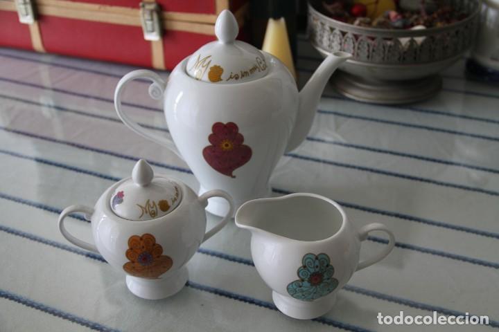 Segunda Mano: Juego tres piezas vajilla juego de té, tetera lechera y azucarero A Loja do Gato Preto - Foto 5 - 218786433