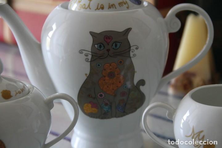 Segunda Mano: Juego tres piezas vajilla juego de té, tetera lechera y azucarero A Loja do Gato Preto - Foto 6 - 218786433