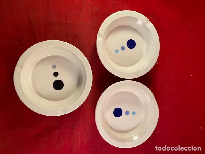 Segunda Mano: Tres ceniceros redondos cerámica - Foto 2 - 221655735
