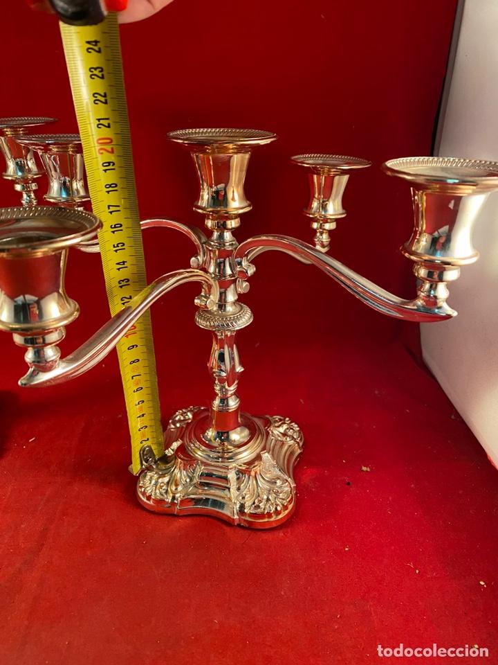 Segunda Mano: Pareja de candelabros plateados - Foto 7 - 221663168