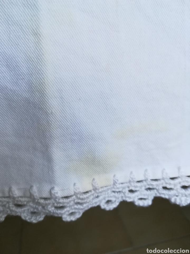 Segunda Mano: Antiguo mantel algodón. - Foto 3 - 222352547