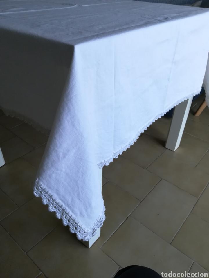 ANTIGUO MANTEL ALGODÓN. (Segunda Mano - Hogar y decoración)