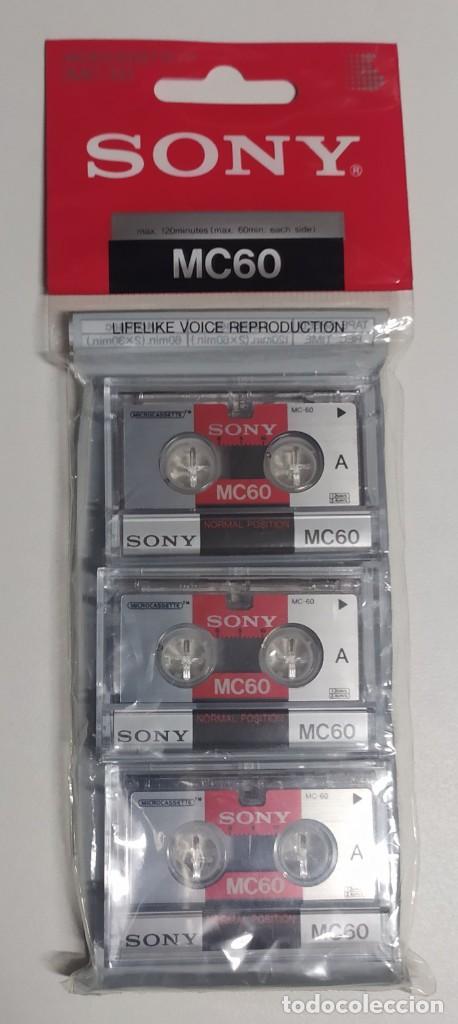 Segunda Mano: 9 microcassettes (microcasetes) Sony MC60 nuevos (cada uno con una hora de duración) - Foto 2 - 222391053