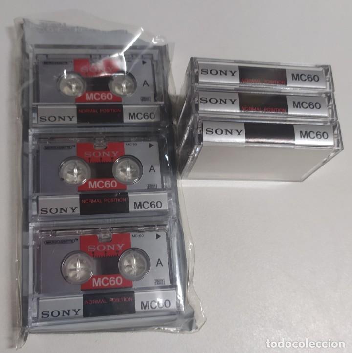 Segunda Mano: 9 microcassettes (microcasetes) Sony MC60 nuevos (cada uno con una hora de duración) - Foto 3 - 222391053
