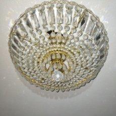 Segunda Mano: PRECIOSA LAMPARA CRISTAL DE ROCA. Lote 222673146