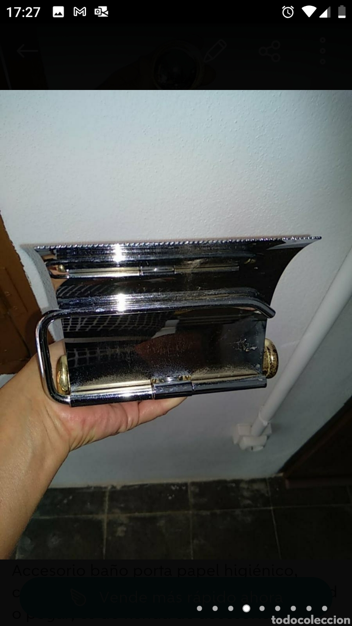 Segunda Mano: Teléfono fijo y accesorio baño papel - Foto 6 - 236198450