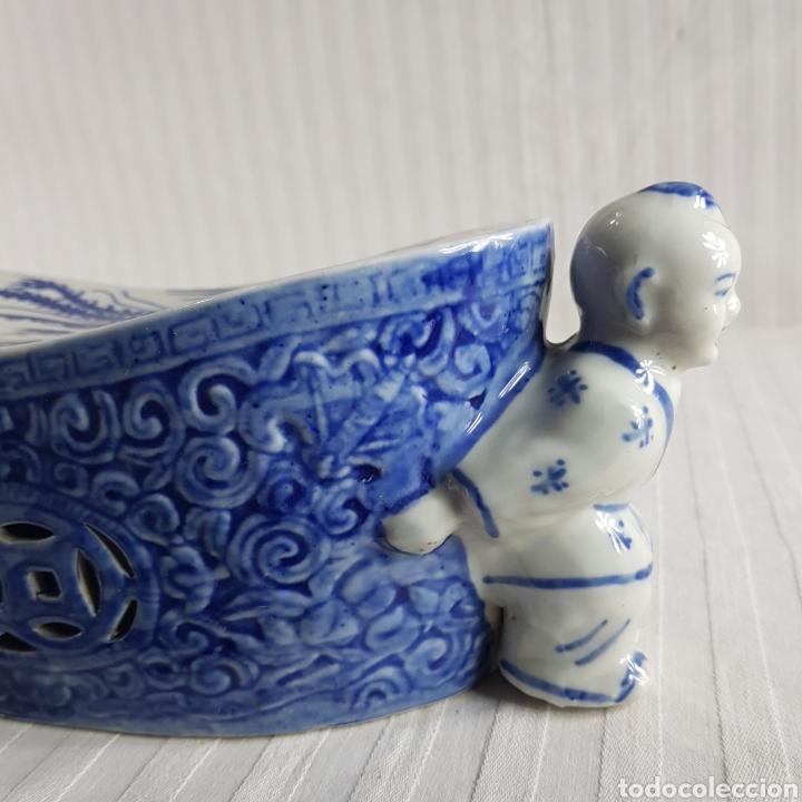 Segunda Mano: Jarrón Porcelana China med.fin. s.XX - Foto 3 - 236319355
