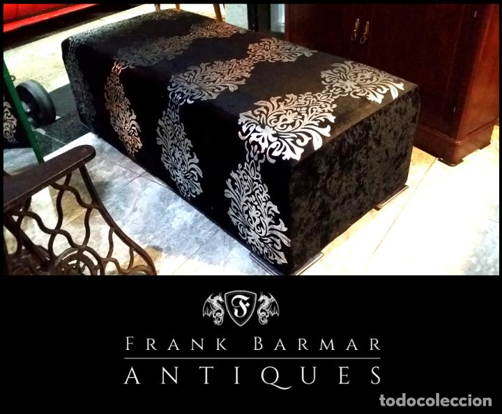PRECIOSO DIVÁN / DESCALZADOR DE TERCIOPELO NEGRO (Segunda Mano - Hogar y decoración)