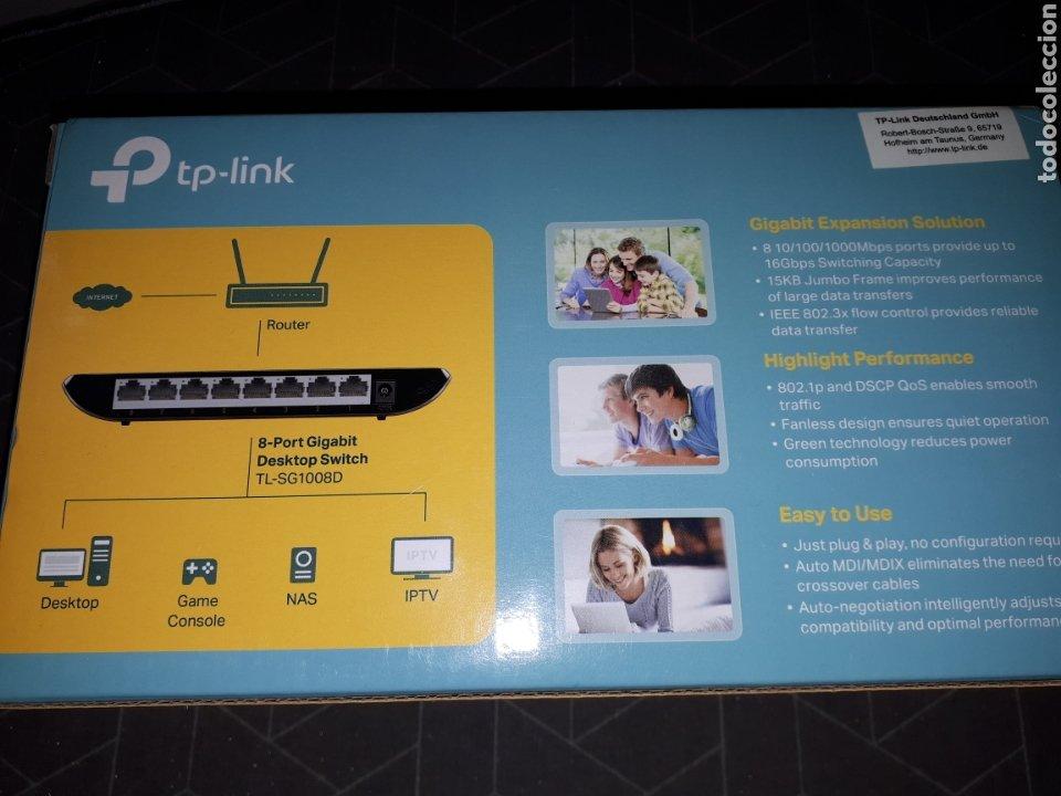 Segunda Mano: INFORMATICA.TP LINK.6 PUERTOS.CONEXION.TV.INTERNET.PC.ROUTER.ORDENADOR. - Foto 6 - 242040795