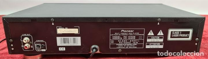 Segunda Mano: REPRODUCTOR DE CD. PIONEER PD-M406. CARGADOR PARA 6 CDS. MALASIA. CIRCA 1990. - Foto 6 - 242251215