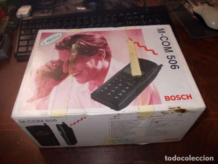 ANTIGUO TELÉFONO BOSCH M-COM 506, LA BASE ENCIENDE PERO EL TELÉFONO NO (Segunda Mano - Artículos de electrónica)