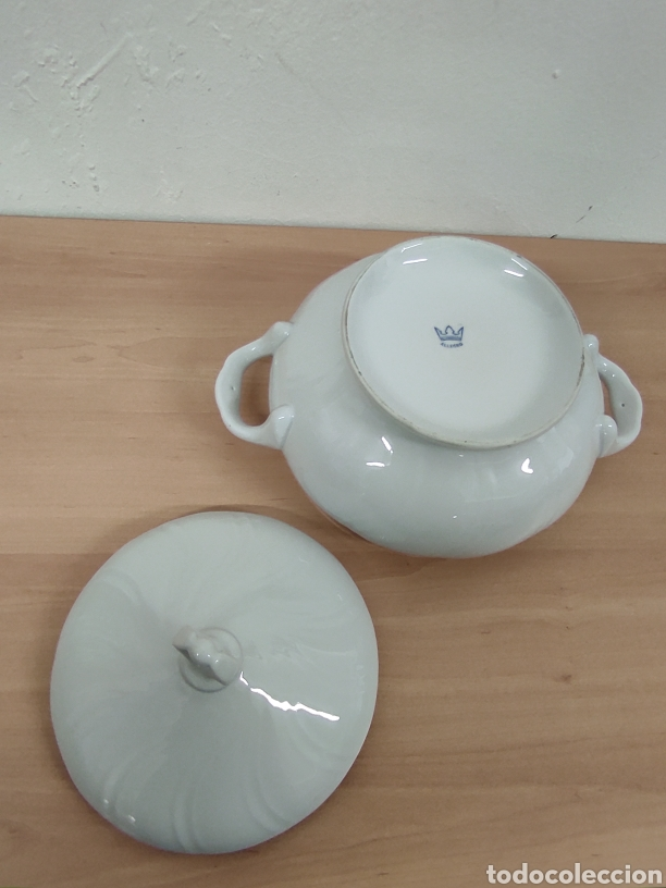 Segunda Mano: Sopera porcelana blanca vintage con sello allegro 20 diámetro 10,5 de altura - Foto 2 - 244875480