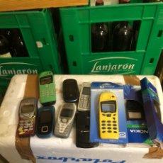 Segunda Mano: LOTE DE TELÉFONOS MÓVILES ANTIGUOS Y FUNDAS. Lote 247741145