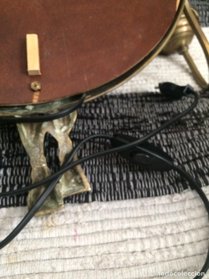 Segunda Mano: Espejo en bronce y latón con apliques funcionando ver - Foto 16 - 251028545