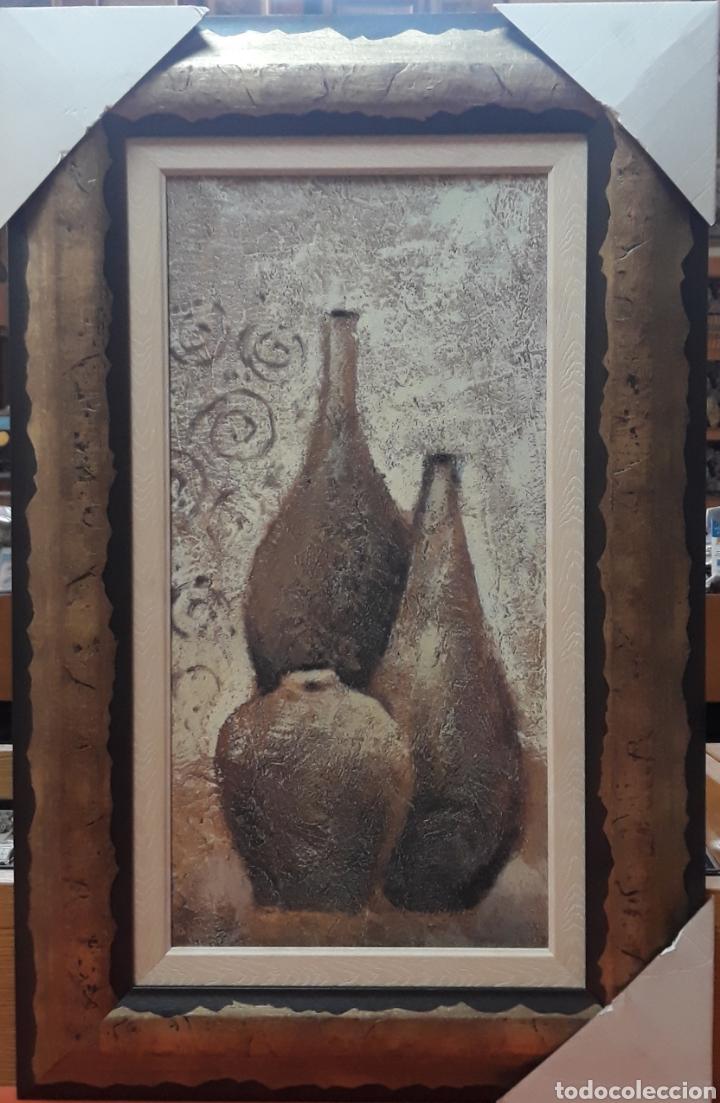 DECORACION CUADRO CON JARRONES (Segunda Mano - Hogar y decoración)