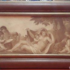 Segunda Mano: DECORACIÓN CUADRO ESCENA ROMÁNICA NATURE. Lote 253475005
