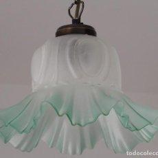 Segunda Mano: GREEN GLASS LAMP. CC122. Lote 253914545