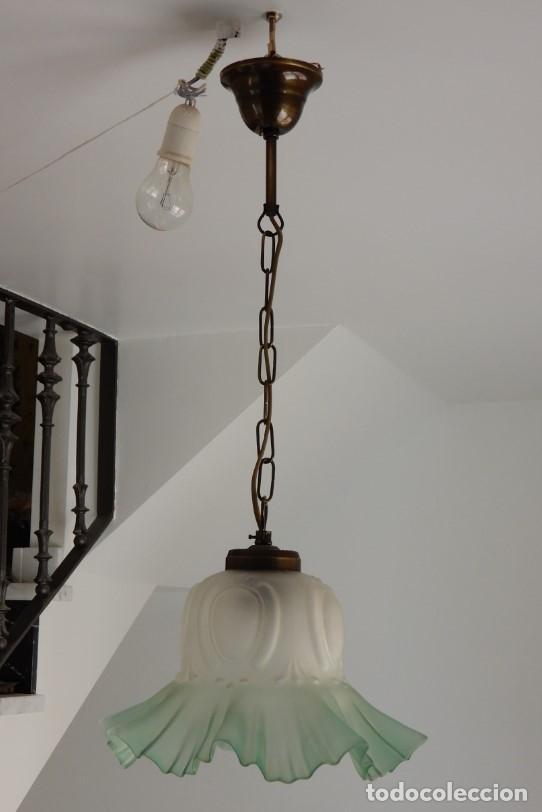 Segunda Mano: Lampe en verre vert. CC122 - Foto 2 - 253915325