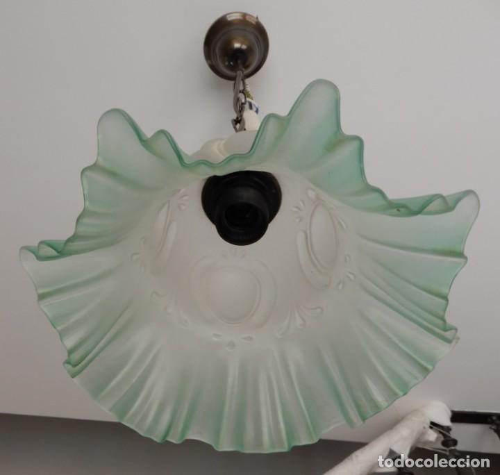 Segunda Mano: Lampe en verre vert. CC122 - Foto 4 - 253915325
