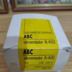 Segunda Mano: ANTIGUO ALIMENTADOR / ADAPTADOR DE CORRIENTE CON CAMBIO DE POLARIDAD ABC. Lote 254464315