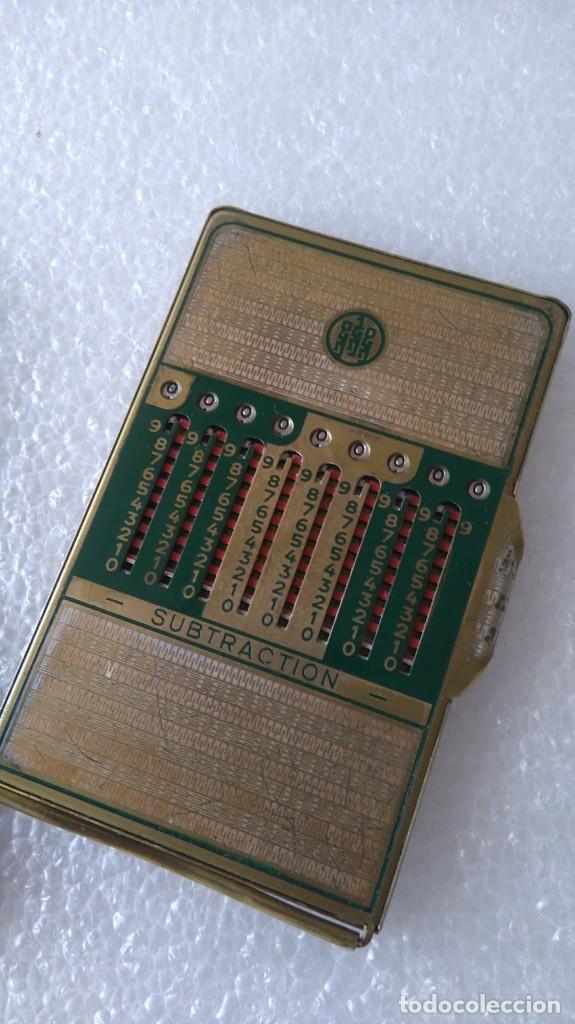 Segunda Mano: Calculadora mecánica addiator funcionando con funda y punzon - Foto 3 - 254951295