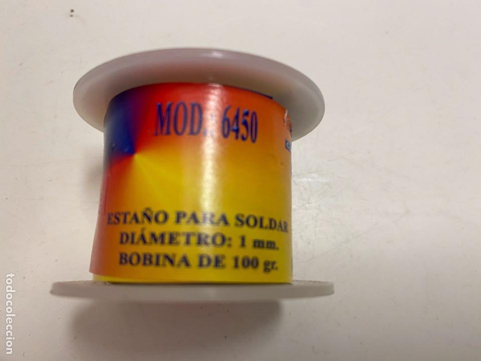 ROLLO DE ESTAÑO PARA SOLDAR 100GR DIÁMETRO 1MM (Segunda Mano - Artículos de electrónica)