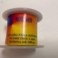 Segunda Mano: ROLLO DE ESTAÑO PARA SOLDAR 100GR DIÁMETRO 1MM. Lote 261235880