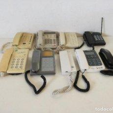 Seconda Mano: LOTE DE 9 TELÉFONOS FIJOS, VARIAS MARCAS, A REVISAR. Lote 264062000
