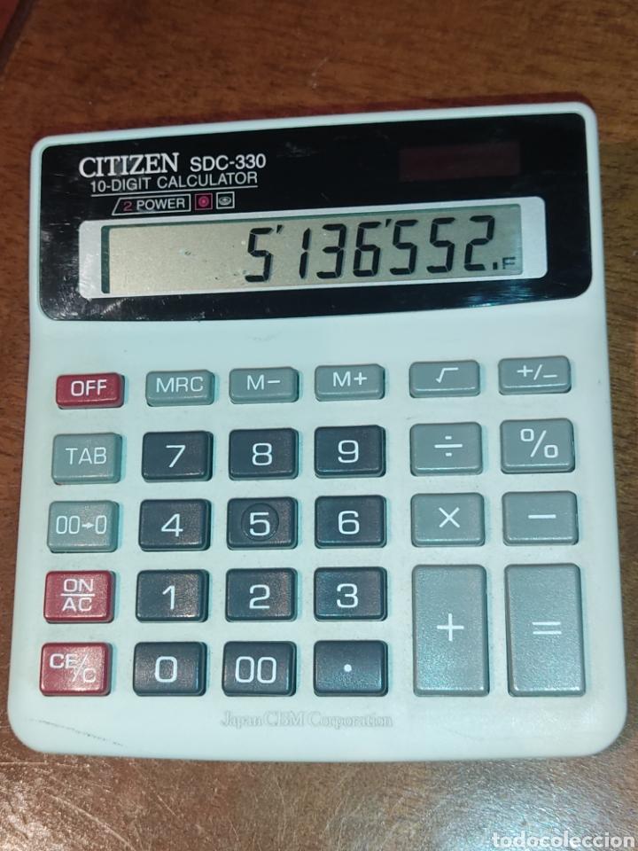 Segunda Mano: Calculadora solar Citizen SDC-330 Japon CBM corporation. - Foto 2 - 273466983
