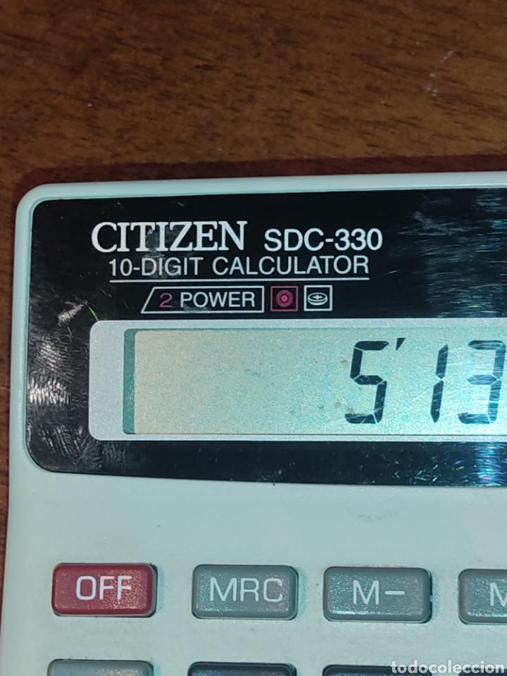 Segunda Mano: Calculadora solar Citizen SDC-330 Japon CBM corporation. - Foto 3 - 273466983