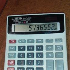Segunda Mano: CALCULADORA SOLAR CITIZEN SDC-330 JAPON CBM CORPORATION.. Lote 273466983