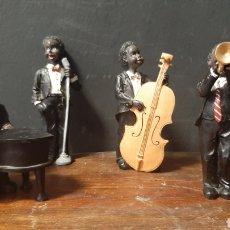 Seconda Mano: CONJUNTO DE FIGURAS DE MUSICOS DE JAZZ EN RESINA. Lote 275538408