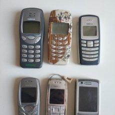 Segunda Mano: LOTE DE 6 TELEFONOS MOVILES MARCA NOKIA 6100, 3120, 2100, 6280, 3410, 3210. Lote 275779558