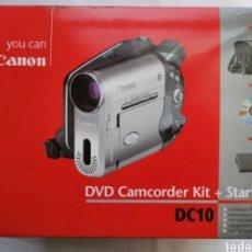 Segunda Mano: CÁMARA DVD + KIT DE ACCESORIOS CANON DC10 VIDEOCÁMARA EN CAJA ORIGINAL PRÁCTICAMENTE NUEVAFUNDA CABL. Lote 276228428
