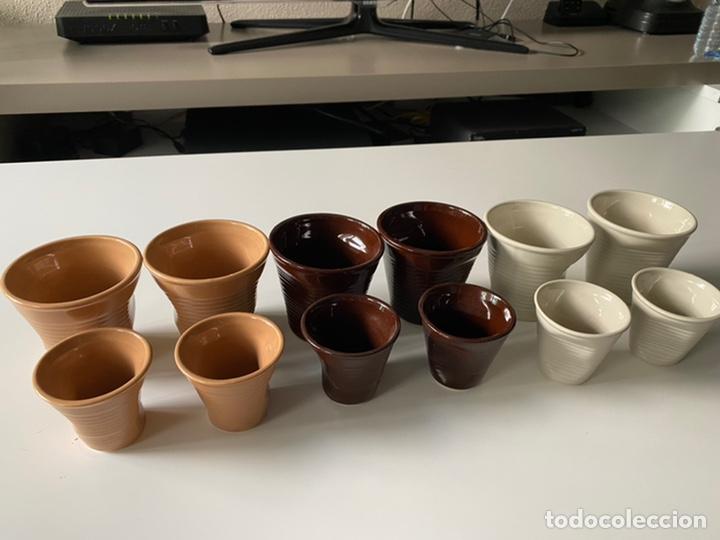 Segunda Mano: Juego vasos de café ceramica - Foto 3 - 277159343