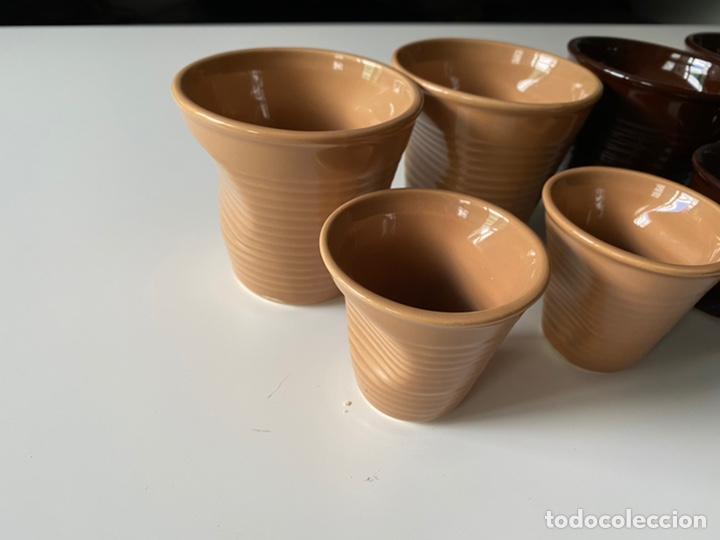 Segunda Mano: Juego vasos de café ceramica - Foto 4 - 277159343