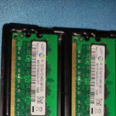 Segunda Mano: MEMORIAS RAM SAMSUNG DDR2 4GB (2 PIEZAS DE 2GB) PERFECTO ESTADO FUNCIONANDO MENOS DE 6 MESES DE USO. Lote 278432878