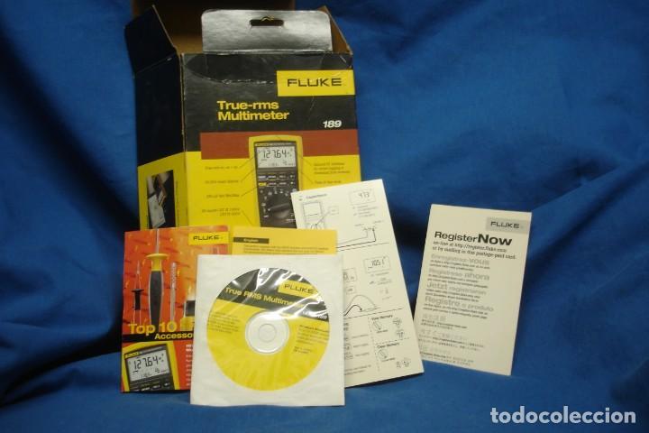 MULTIMETER FLUKE 189 - CAJA VACÍA , MANUAL EN CD-ROM Y DOCUMENTACIÓN (Segunda Mano - Artículos de electrónica)