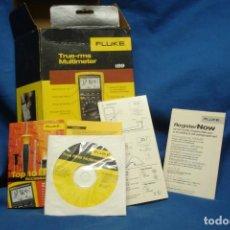 Segunda Mano: MULTIMETER FLUKE 189 - CAJA VACÍA , MANUAL EN CD-ROM Y DOCUMENTACIÓN. Lote 279530403