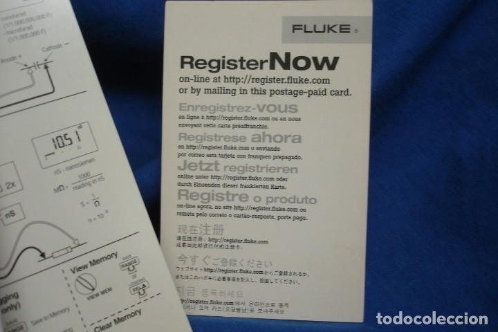 Segunda Mano: MULTIMETER FLUKE 189 - CAJA VACÍA , MANUAL EN CD-ROM Y DOCUMENTACIÓN - Foto 2 - 279530403
