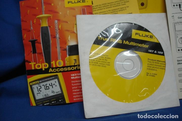 Segunda Mano: MULTIMETER FLUKE 189 - CAJA VACÍA , MANUAL EN CD-ROM Y DOCUMENTACIÓN - Foto 4 - 279530403