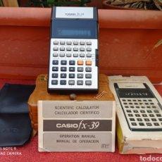 Segunda Mano: CALCULADORA CASIO FX 39 CAJA FUNDA INSTRUCCIONES. Lote 281965383